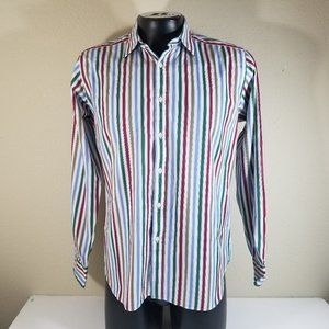 Charles Tyrwhitt Men Long Sleeve Shirt Sz L